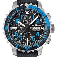 Fortis B-42 Marinemaster Blue Chronograph -  671.15.45 LP01