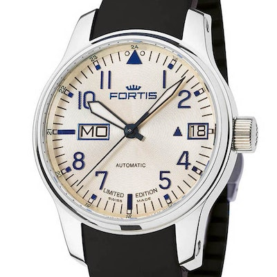 Fortis F-43 Aviator Silver Line Big Day-Date Ltd. - 700.20.92 K