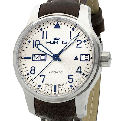 Fortis F-43 Aviator Silver Line Big Day-Date Ltd. - 700.20.92 L16