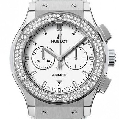 Hublot Classic Fusion Chronograph Titanium White Diamonds - 541.NE.2010.LR.1104