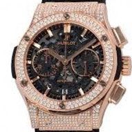 Hublot Aero King Gold Diamonds Pave - 525.OX.0180.LR.1704