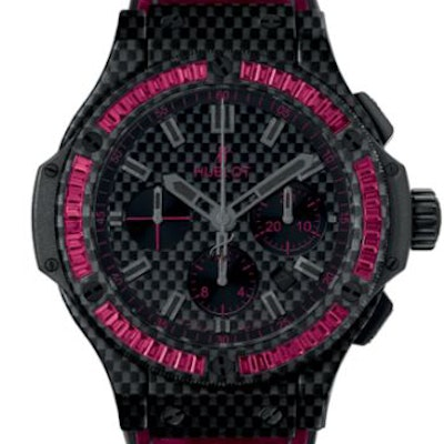 Hublot Big Bang Carbon Bezel Baguette Rubies - 301.QX.1730.HR.1902