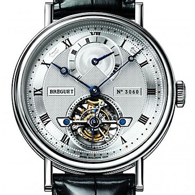 Breguet Classique Complications Tourbillon Power Reserve - 5317PT/12/9V6