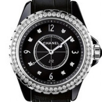 Chanel J12 Black Gem-Set  - H4189