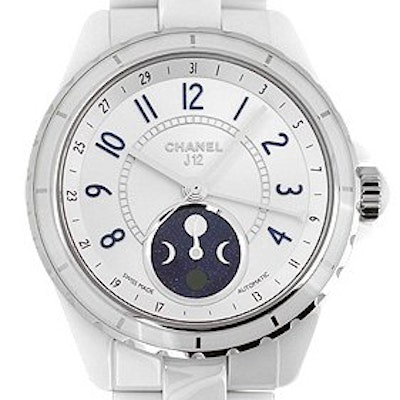 Chanel J12 White Automatic Moon Phase  - H3404