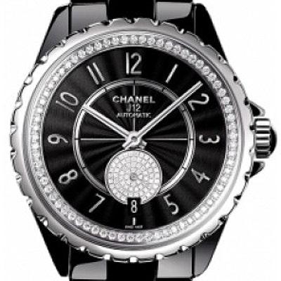 Chanel J12 Black Gem-Set  - H3840