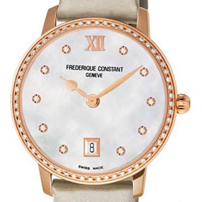 Frederique Constant Classics Slim Line Joaillerie - FC-220MPW4SD34