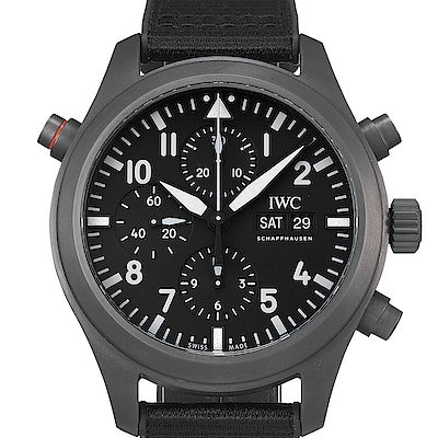 "IWC Pilot's Watch Double Chronograph Top Gun Ceratanium ""SIHH 2019"" - IW371815"