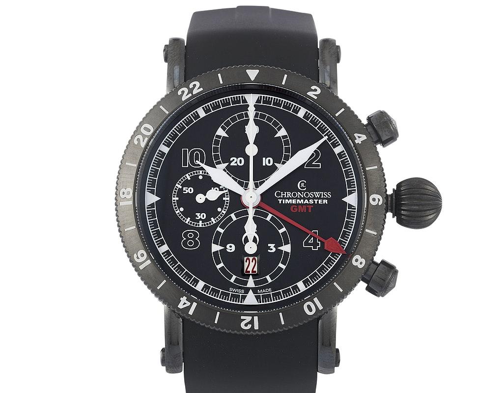 Chronoswiss Timemaster Chronograph GMT DLC CH-7535-G-BK
