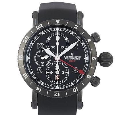 Chronoswiss Timemaster Chronograph GMT DLC - CH-7535-G-BK