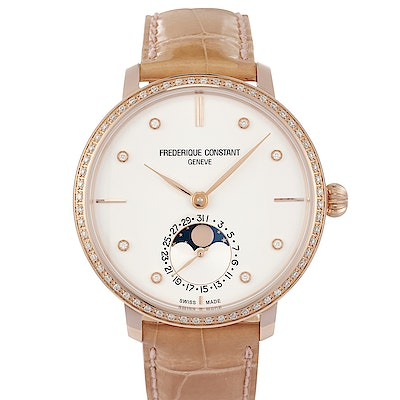 Frederique Constant Ladies Slimline Moonphase Manufacture - FC-703VD3SD4
