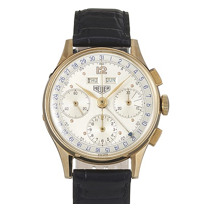 Heuer Dato-Compax Triple Calendar Chronograph - 72C
