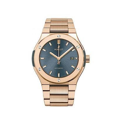 Hublot Classic Fusion Chronograph King Gold Blue Bracelet - 540.OX.7180.OX