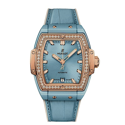 Hublot Spirit of Big Bang Light Blue Ceramic King Gold Diamonds - 665.EO.891L.LR.1204