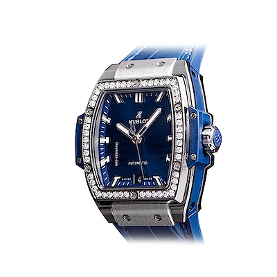 Hublot Spirit of Big Bang Titanium Blue Diamonds - 665.NX.7170.LR.1204