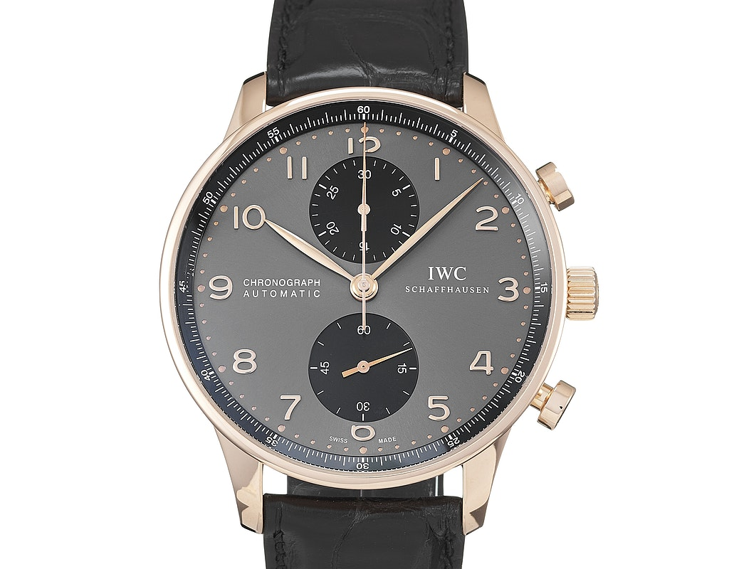 IWC IW3714-82 Portuguese Chrono-Automatic  Red Gold / Slate